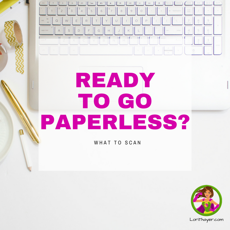 Ready To Go Paperless? What To Scan