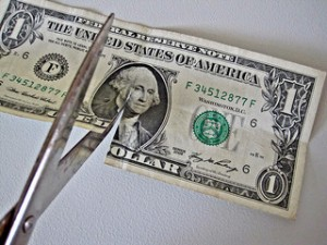 CutDollarBills 300x225 5 Tips To Cut Monthly Bills
