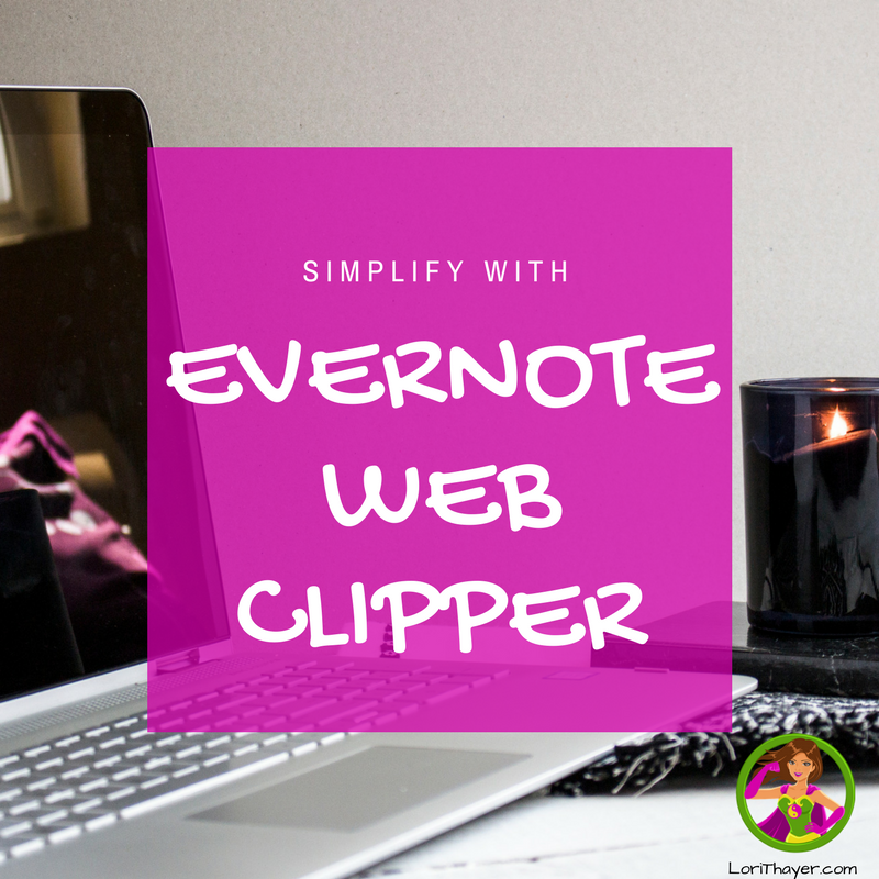 Simplify With Evernote Web Clipper